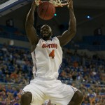 Junior Patric Young (4) had a total of 12 points during Sunday's game against the Alabama State Hornets.