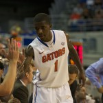 Kenny Boynton (1) had a total of 22 points in Sunday's game against the Alabama State Hornets.