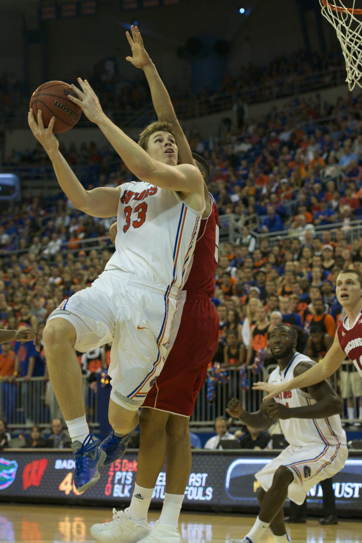 Erik Murphy (33) puts up a lay up for the Florida Gators in the second half of Wednesday's game.