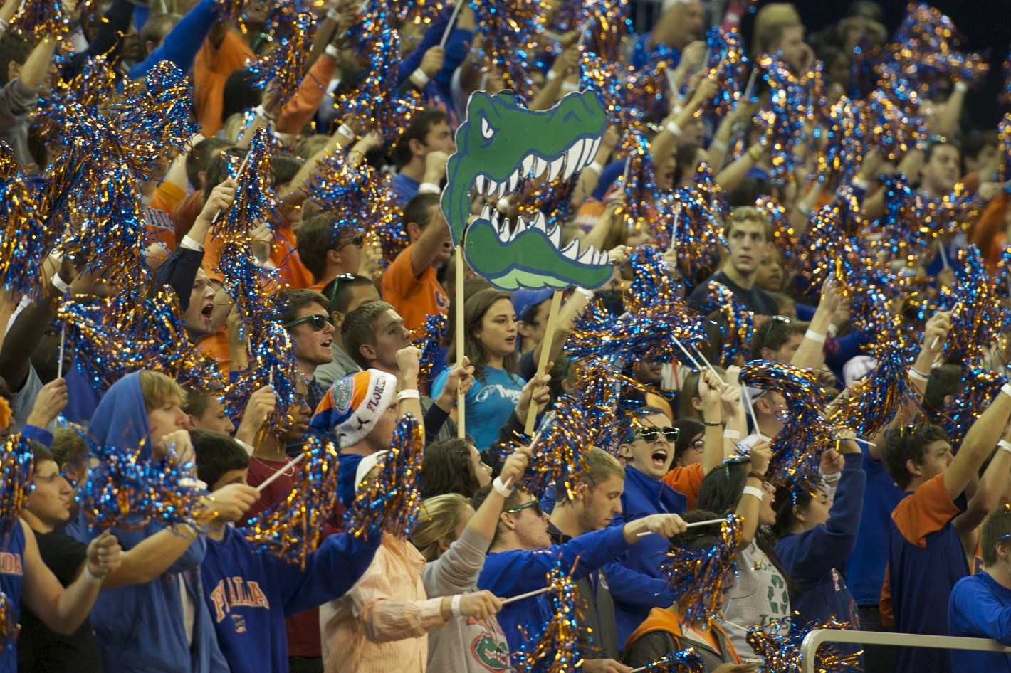Fans filled the stands to show their support for the Florida Gators Thursday night.
