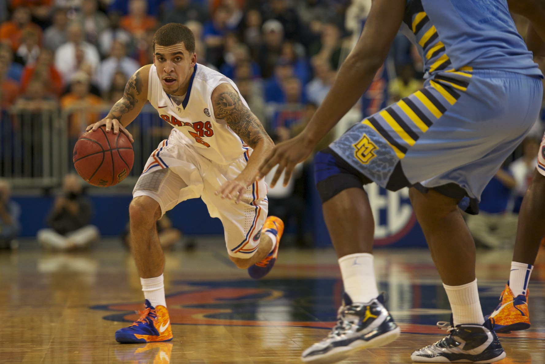 Scottie Wilbekin had 4 points and 2 rebounds for the Gators Thursday night.