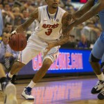 Mike Rosario (3) had 11 points for Florida Thursday night against Marquette.