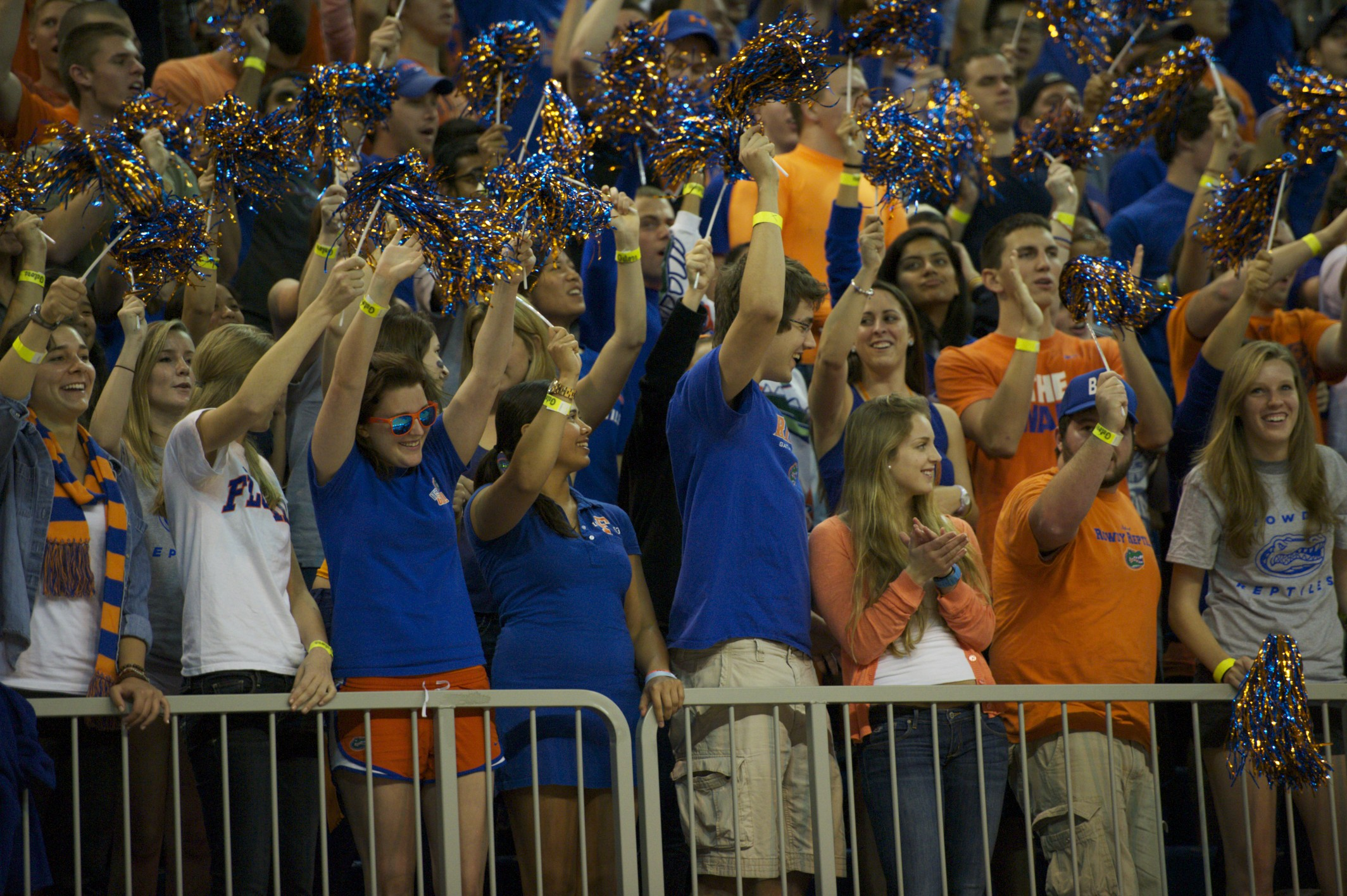 Florida fans filled the stands Wednesday night when the Gators took down the Georgia Bulldogs, 77-44.