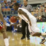 Kenny Boynton (1) had a total of seven points for the Gators Wednesday night against the Georgia Bulldogs.