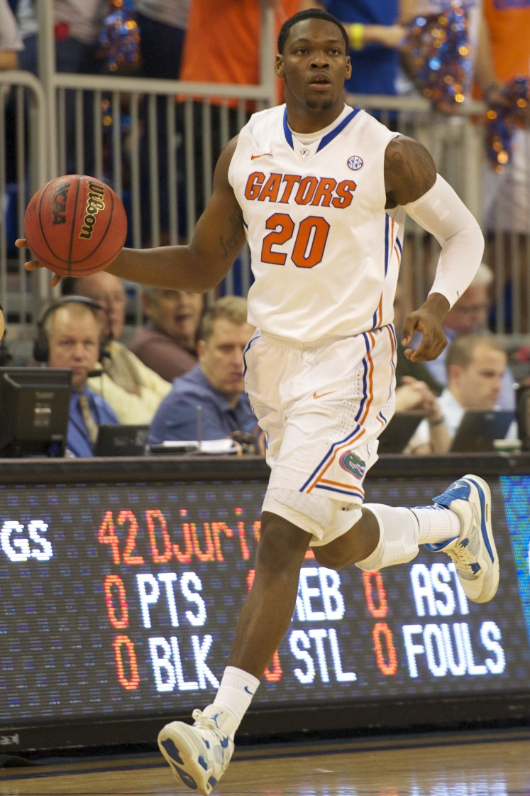 Michael Frazier (20) had six points for the Gators Wednesday night.