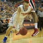 Florida's Jacob Kurtz (9) had five points in the three minutes that he played Wednesday night.