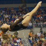 Mackenzie Caquatto was one of three Gators to fall during her beam routine Friday night.