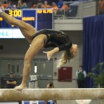 Bridget Sloan was one of three Gators to fall during her beam routine Friday night against the Kentucky Wildcats.