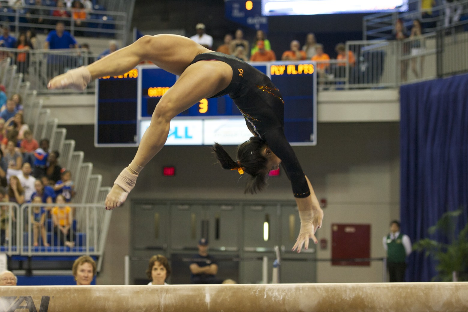Marissa King competes on beam Friday night against Kentucky.