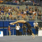 Marissa King competes on floor Friday night against the Kentucky Wildcats.