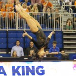 Marissa King competes on floor Friday night against Kentucky.
