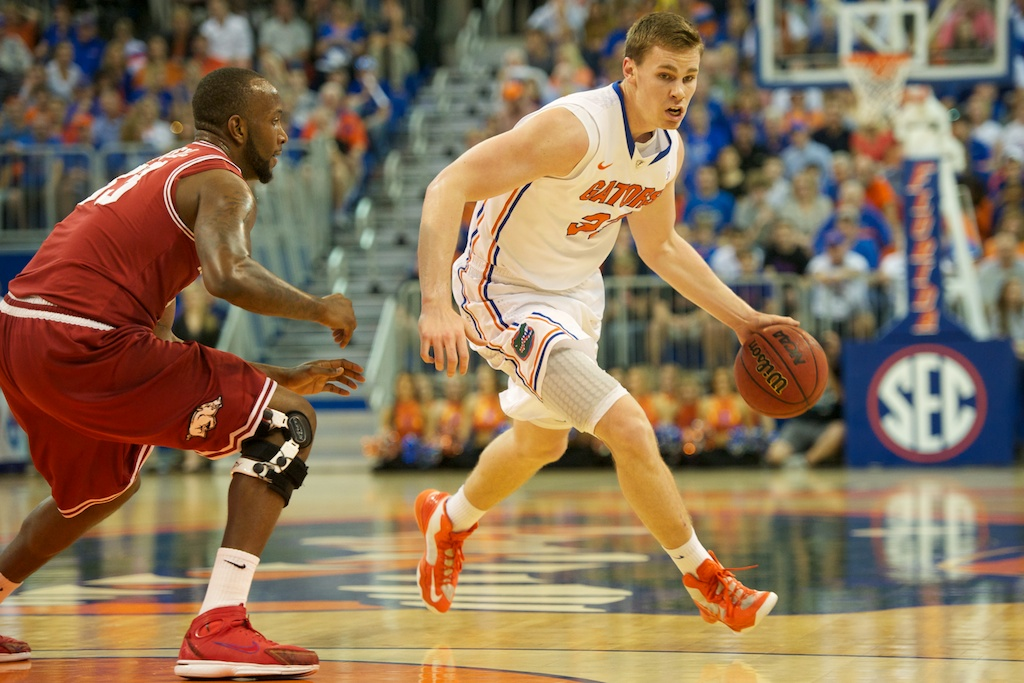 Erik Murphy (33) had 12 points Saturday night against Arkansas.