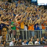 Fans filled the stands Saturday night to watch the Florida Gators take on the Arkansas Razorbacks Saturday night.