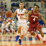 Scottie Wilbekin (5) had six rebounds and four points for the Gators Saturday night.