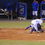 Ole Miss was the first to score during Friday night's game. The Gators lost to Ole Miss 4-3 Friday night in an 11-inning game at McKeethan Stadium.