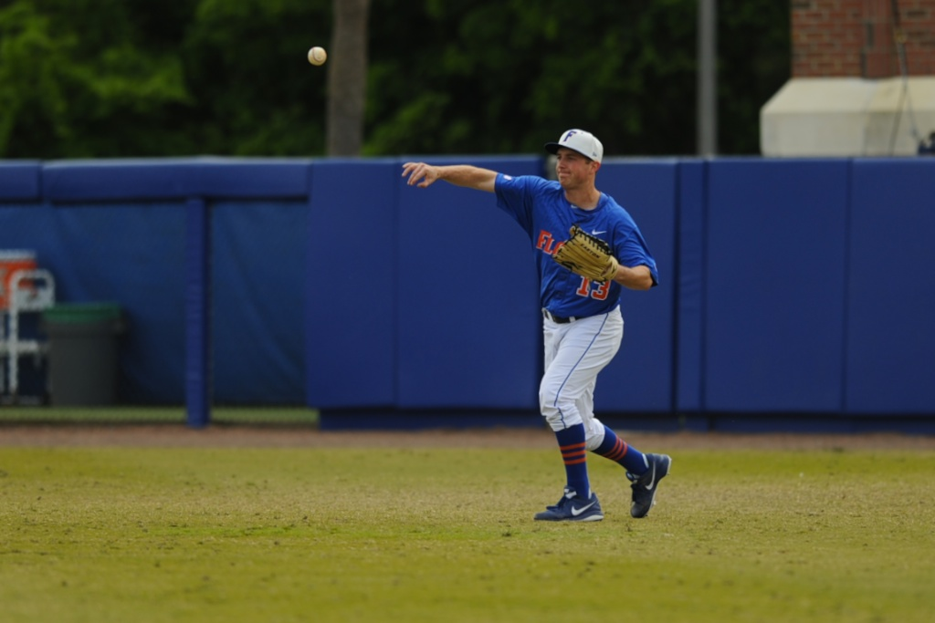 Sophomore and outfielder Connor Mitchell (13)