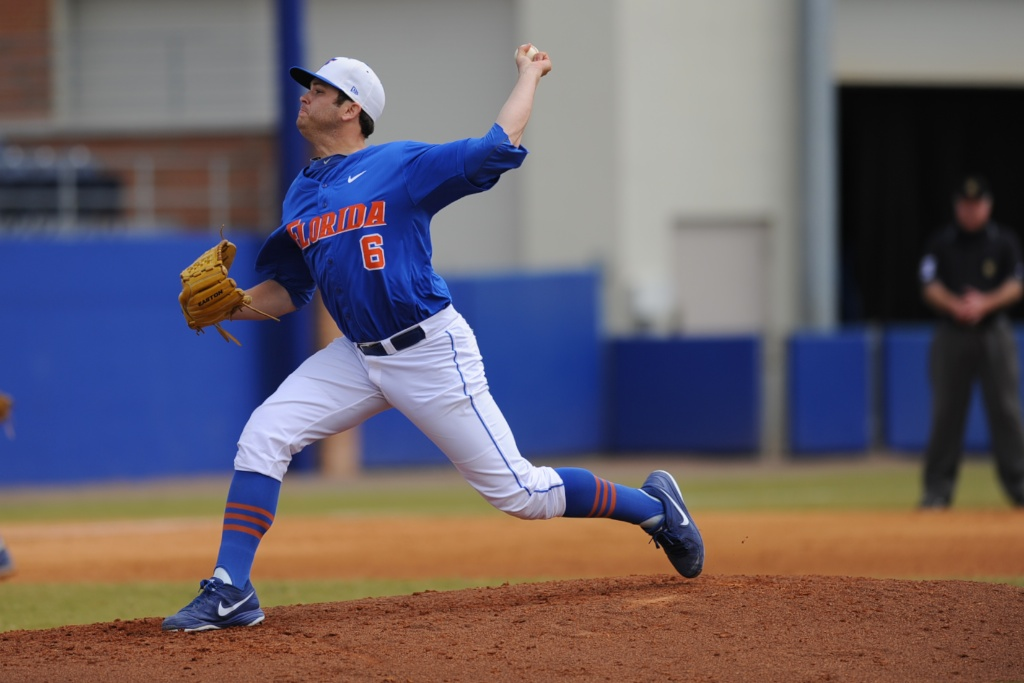 Junior Daniel Gibson (6) also pitched Sunday afternoon in the game against the Kentucky Wildcats.