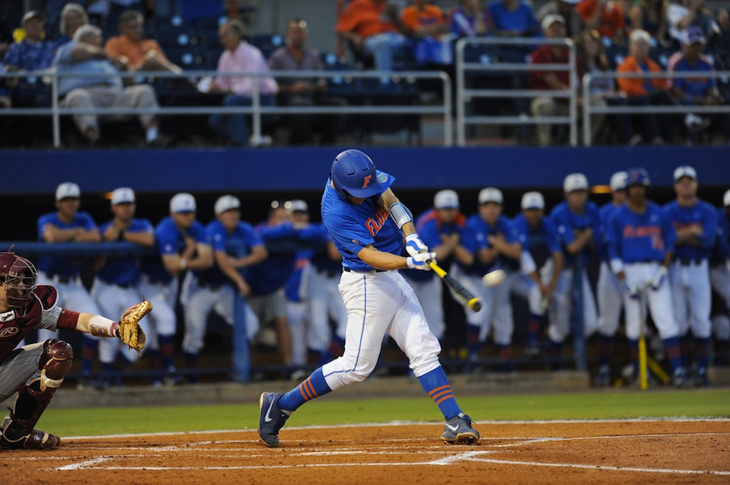 Taylor Gushue (17). Florida defeated South Carolina 4-3 Friday night.
