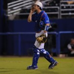 Catcher Taylor Gushue (17). Florida defeated South Carolina 4-3 Friday night.