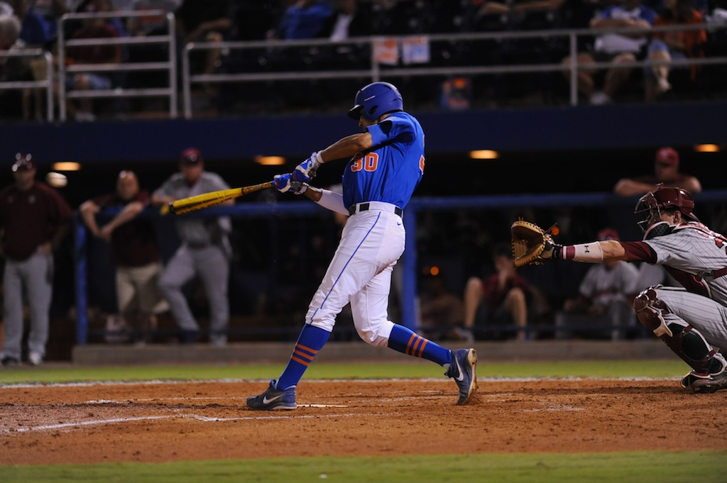 Vickash Ramjit (30). Florida defeated South Carolina 4-3 Friday night.