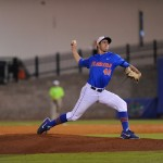 Pitcher Mike Vinson (40). Florida defeated South Carolina 4-3 Friday night.