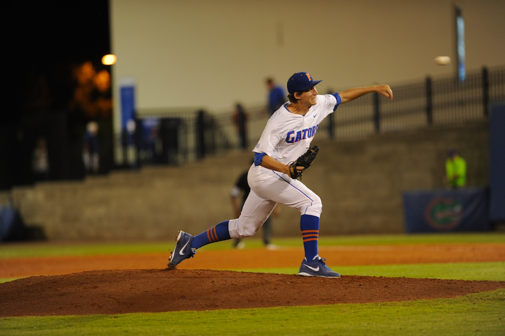 Pitcher Parker Danciu (55).The Gators defeated the Vols 7-2 Friday night.