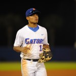 Richie Martin (12). The Gators defeated the Vols 7-2 Friday night.