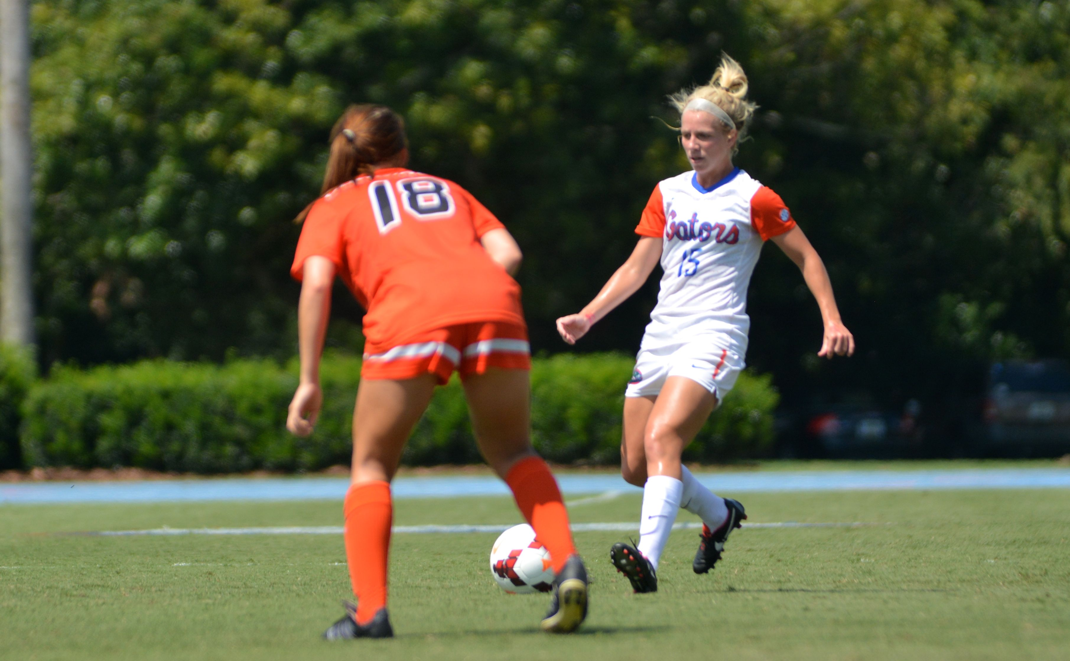 Tessa Andujar scored a wacky goal for Florida Saturday during their shutout win.
