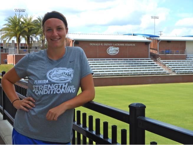 UF Lacrosse's Angela Flister