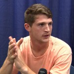 Jeff Driskel meeting with the media.