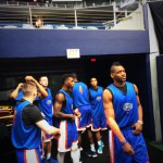 Gators get ready for their open practice prior to game day.