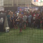 It wasn't jsut football at Bracket Town.  There was a quarterback game, soccer goal, and even this lacrosse station.