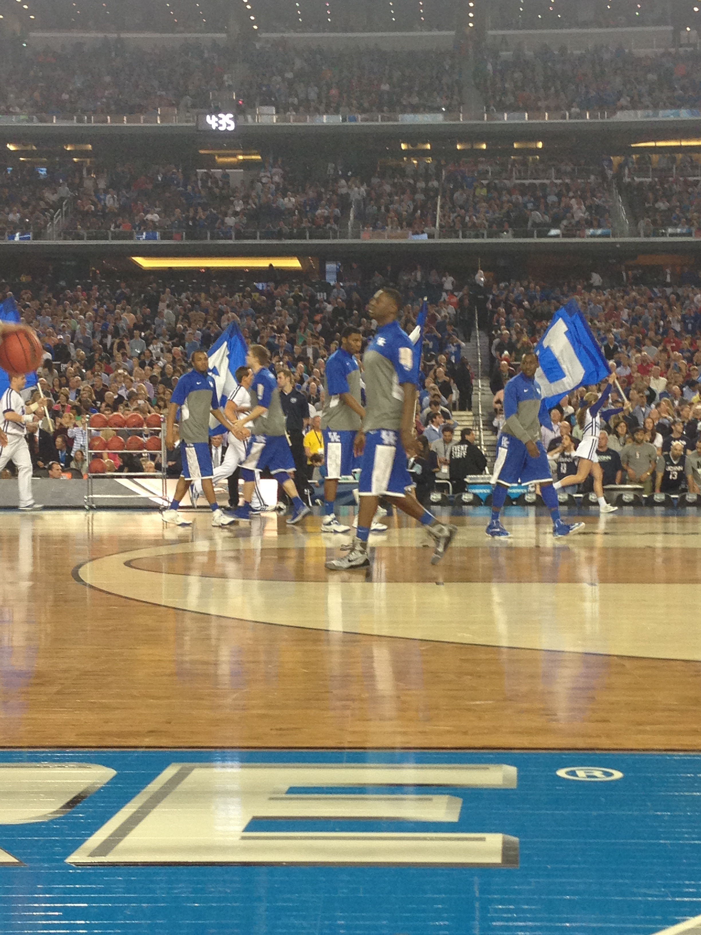 Kentucky Wildcats coming out of the locker room.