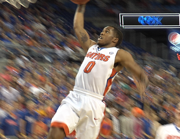 Kasey Hill SOARS for the one-hand jam against Yale for his easiest two points of the night.