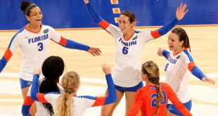 Photo taken by Twitter account @GatorsVB