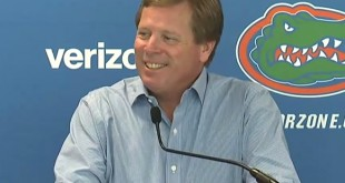 Gators Head Coach Jim McElwain speaks at Florida's weekly press conference