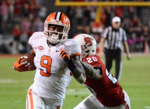 Clemson was awarded the No. 1 spot in the first rankings. They are currently ranked No. 3 in the AP Top 25.