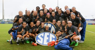 Florida celebrates its 2015 SEC Tournament title 2015 Gator Soccer University of Florida Nov. 8, 2015 - Florida 2, Texas A&M 1 Southeastern Conference Tournament championship match