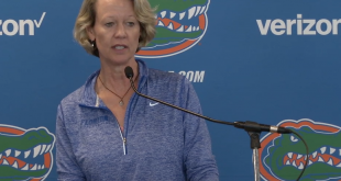 Florida volleyball head coach Mary Wise