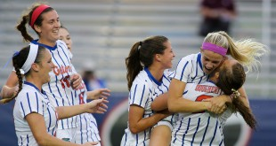 Christen Westphal celebrates her free kick goal 2015 Gator Soccer University of Florida Nov. 8, 2015 - Florida 2, Texas A&M 1 Southeastern Conference Tournament championship match