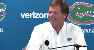 Head Coach, Jim McElwain speaks at the weekly press conference Tuesday, December 15th.