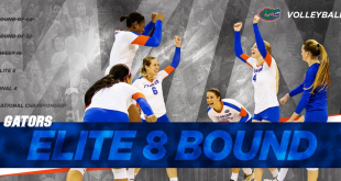 Florida Volleyball advances to the Elite 8; Courtesy of @GatorsVB on Twitter
