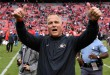 Former UGA head coach Mark Richt after the Bulldogs win against rival Georgia Tech