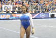 Sophomore Kennedy Baker during floor exercise against UCLA. 1/15/2016