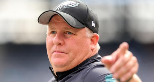 Sep 27, 2015; East Rutherford, NJ, USA; Philadelphia Eagles head coach Chip Kelly before a game against the New York Jets at MetLife Stadium. Mandatory Credit: Brad Penner-USA TODAY Sports