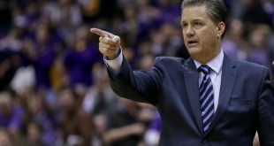 Jan 5, 2016; Baton Rouge, LA, USA; Kentucky Wildcats head coach John Calipari during the second half of a game against the LSU Tigers at the Pete Maravich Assembly Center. Mandatory Credit: Derick E. Hingle-USA TODAY Sports