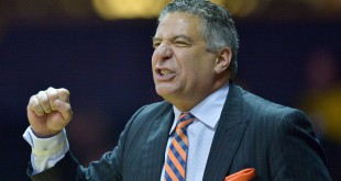 Jan 12, 2016; Nashville, TN, USA; Auburn Tigers head coach Bruce Pearl during the second half against the Vanderbilt Commodores at Memorial Gym. Vanderbilt won 75-57. Mandatory Credit: Jim Brown-USA TODAY Sports