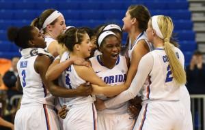 Gator Women's Basketball celebration - 2016 vs. Aggies
