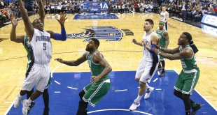 Jan 31, 2016; Orlando, FL, USA; Orlando Magic guard Victor Oladipo (5) shoots during the second half of a basketball game against the Boston Celtics at Amway Center. The Magic won 119-114. Mandatory Credit: Reinhold Matay-USA TODAY Sports
