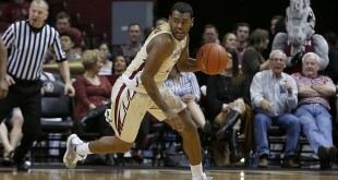 Feb 17, 2016; Tallahassee, FL, USA; Florida State Seminoles guard Xavier Rathan-Mayes (22) controls the ball against the Georgia Tech Yellow Jackets in the first half of play at Donald L. Tucker Center. Mandatory Credit: Glenn Beil-USA TODAY Sports